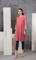 Digital Printed Stitched Lawn Frock - 1PC