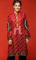 Red Digital Printed Stitched Lawn Shirt- 1PC