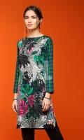 Green Digital Printed Stitched Lawn Shirt- 1PC