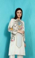 Digital Printed Stitched Cotton Karandi Shirt & Trouser With Mask- 2PC