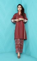 Printed Embroidered Stitched Khaddar Shirt & Shalwar With Mask-2PC