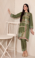 Printed Stitched Khaddar Shirt & Trouser With Mask-2PC