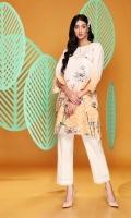 Digital Printed Stitched Khaddar Shirt With Mask - 1PC