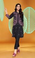 Digital Printed Stitched Khaddar Shirt With Mask- 1PC