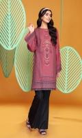 Digital Printed Embroidered Stitched Khaddar Kurta- 1PC