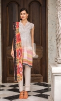 - Digital Printed Modal Dobby Shirt: 3 Mtr  - Printed Cotton Net Dupatta: 2.5 Mtr