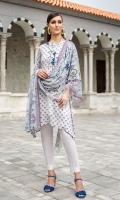 - Printed Modal Dobby Shirt: 3 Mtr  - Printed Cotton Net Dupatta: 2.5 Mtr