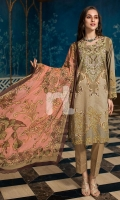 - Digital Printed Slub Lawn Shirt: 3 Mtr  - Printed Crinkle Chiffon Dupatta: 2.5 Mtr  - Dyed Cambric Trouser: 2.5 Mtr                                                 - Embroidered Neckline + Border (Patch)