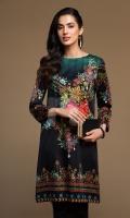 Black Digital Printed Stitched Sateen Shirt - 1PC