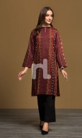 Brown Printed Stitched Karandi Shirt - 1PC