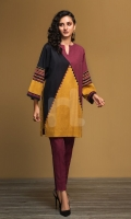 Yellow Printed Stitched Khaddar Shirt & Dyed Trouser - 2PC