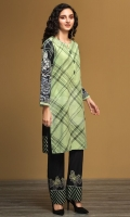 Green Printed Stitched Khaddar Shirt & Embroidered Trouser - 2PC