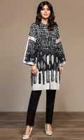 Digital Printed Embroidered Stitched Lawn Shirt - 1PC