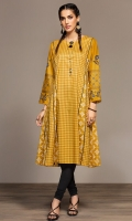 Printed Stitched Lawn Frock - 1PC