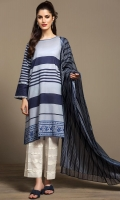 Digital Printed Embroidered Stitched Lawn Shirt & Printed Dupatta - 2PC
