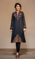 Digital Printed Embroidered Stitched Lawn Frock - 1PC
