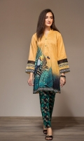 Digital Printed Stitched Lawn Shirt & Printed Trouser - 2PC