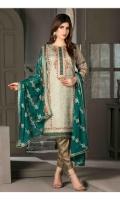 Shirt: - Embroidered Banarsi Lawn Dupatta: - Embroidered Chiffon Trouser: - Banarsi