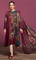 Digital Printed Lawn Shirt: 3 Mtr Digital Printed Rib Voil Dupatta: 2.5 Mtr