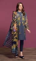 Digital Printed Lawn Shirt: 3 Mtr Dyed Cambric Trouser: 2.5 Mtr Digital Printed Rib Voil Dupatta: 2.5 Mtr