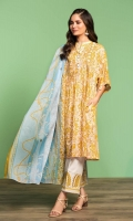 Printed Lawn Shirt: 3.5 Mtr Dyed Cambric Trouser: 2.5 Mtr Printed Voil Dupatta: 2.5 Mtr 2 Embroidered Borders (Patch)