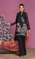 Digital Printed Lawn Shirt: 3 Mtr Dyed Cambric Trouser: 2.5 Mtr   Digital Printed Water Jet Grip Chiffon Dupatta: 2.5 Mtr