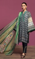 Printed Lawn Shirt: 3.5 Mtr Dyed Cambric Trouser: 2.5 Mtr Printed Voil Dupatta: 2.5 Mtr