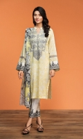 Printed Lawn Shirt: 3.5 Mtr Printed Rib Voil Dupatta: 2.5 Mtr Embroidered Front + Border (Patch)