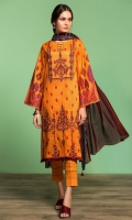 Printed Lawn Shirt: 3.5 Mtr Printed Voil Dupatta: 2.5 Mtr Embroidered Front