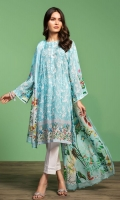 Digital Printed Lawn Shirt: 3 Mtr Digital Printed Voil Dupatta: 2.5 Mtr