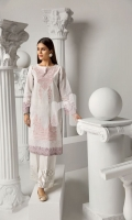 Printed Embroidered Stitched Lawn Shirt - 1PC