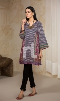 Blue Printed Stitched Lawn Frock (1PC)