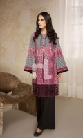 Pink Printed Stitched Lawn Shirt (1PC)