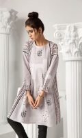 Printed Embroidered Stitched Shirt (1PC)
