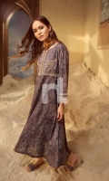 Printed Embroidered Stitched Frock (1PC)