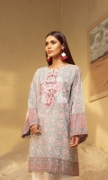 Printed Embroidered Stitched Lawn Shirt (1PC)