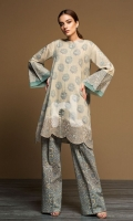 - Printed Khaddar Shirt: 3.5 Mtr  - Printed Khaddar Trouser: 2.5 Mtr             - Embroidered Border + 2 Motifs (Patch)