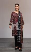 - Printed Linen Shirt: 3 Mtr  - Printed Linen Dupatta: 2.5 Mtr  - Dyed Linen Trouser: 2.5 Mtr