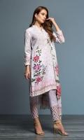 - Digital Printed Khaddar Shirt: 3.5 Mtr  - Digital Printed Karandi Dupatta: 2.5 Mtr  - Dyed Khaddar Trouser: 2.5 Mtr