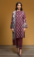 - Printed Karandi Shirt: 3.5 Mtr  - Embroidered Shawl: 2.5 Mtr  - Dyed Karandi Trouser: 2.5 Mtr