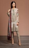 - Printed Linen Shirt: 3.5 Mtr  - Printed Silk Wool Shawl: 2.5 Mtr  - Dyed Linen Trouser: 2.5 Mtr