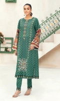 - Printed Super Fine Lawn Shirt: 2 Mtr  -Printed Cambric Trouser: 2 Mtr  -Embroidered Front + Border (Patch)