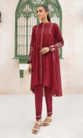 -Printed Super Fine Lawn Shirt: 2 Mtr  -Printed Cambric Trouser: 2 Mtr  -Embroidered Sleeves + Border (Patch)