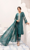 -Dyed Super Fine Lawn 3.5Mtr  -Printed Voil Dupatta 2.5  Embroidered neckline + 2 borders (Patch)
