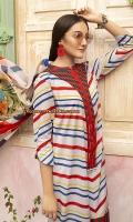 -Printed Super Fine Lawn Shirt: 3.5 Mtr  -Digital Printed Grip Chiffon Dupatta: 2.5 Mtr  -Dyed Cambric Trouser: 2.5 Mtr