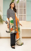 -Digital Printed Super Fine Lawn Shirt: 3 Mtr  -Digital Printed Grip Chiffon Dupatta: 2.5 Mtr  -Dyed Cambric Trouser: 2.5 Mtr