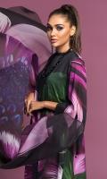 -Digital Printed Lawn Shirt: 3 Mtr  -Digital Printed Water Jet Grip Chiffon Dupatta: 2.5 Mtr  -Dyed Cambric Trouser: 2.5 Mtr