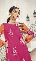 -Printed Super Fine Lawn Shirt: 2 Mtr  -Printed Cambric Trouser: 2 Mtr
