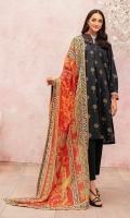 -Gold Printed Super Fine Lawn Shirt: 3.5 Mtr  -Digital Printed Silk Dupatta: 2.5 Mtr