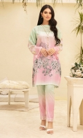 - Digital Printed Super Fine Lawn Shirt: 3 Mtr  -Digital Printed Cambric: 2.5 Mtr                   -Embroidered Border (Patch) + 2 Motifs (Patch)